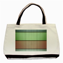 Modern Texture Blue Green Red Grey Chevron Wave Line Basic Tote Bag (Two Sides)