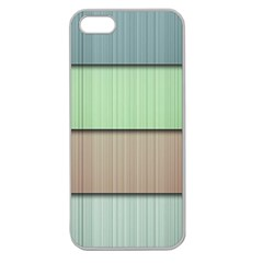 Modern Texture Blue Green Red Grey Chevron Wave Line Apple Seamless iPhone 5 Case (Clear)