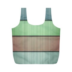 Modern Texture Blue Green Red Grey Chevron Wave Line Full Print Recycle Bags (M)