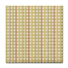 Tomboy Line Yellow Red Tile Coasters