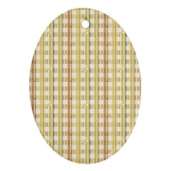 Tomboy Line Yellow Red Ornament (Oval)