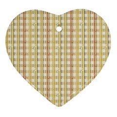Tomboy Line Yellow Red Ornament (heart)