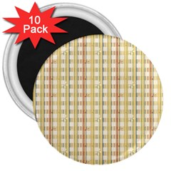 Tomboy Line Yellow Red 3  Magnets (10 pack)
