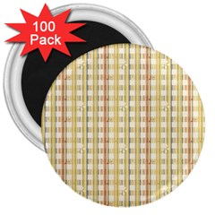 Tomboy Line Yellow Red 3  Magnets (100 Pack)