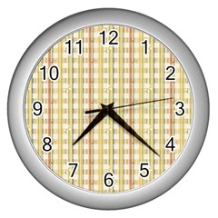 Tomboy Line Yellow Red Wall Clocks (silver)