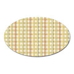 Tomboy Line Yellow Red Oval Magnet