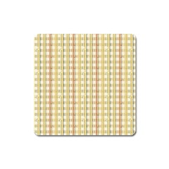 Tomboy Line Yellow Red Square Magnet