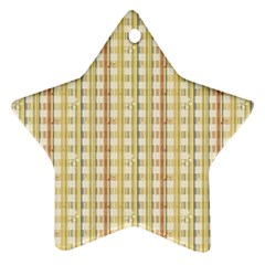 Tomboy Line Yellow Red Star Ornament (Two Sides)