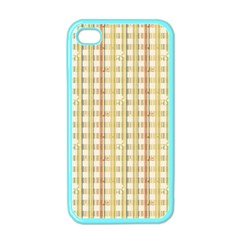 Tomboy Line Yellow Red Apple Iphone 4 Case (color)