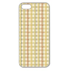 Tomboy Line Yellow Red Apple Seamless Iphone 5 Case (clear)