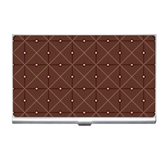Coloured Line Squares Plaid Triangle Brown Line Chevron Business Card Holders