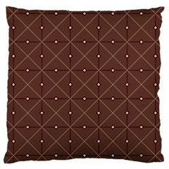 Coloured Line Squares Plaid Triangle Brown Line Chevron Large Cushion Case (One Side)