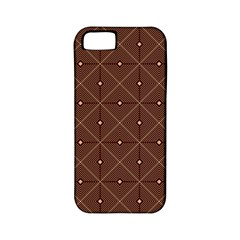 Coloured Line Squares Plaid Triangle Brown Line Chevron Apple iPhone 5 Classic Hardshell Case (PC+Silicone)