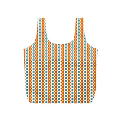 Sunflower Orange Gold Blue Floral Full Print Recycle Bags (S)