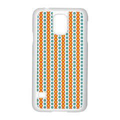 Sunflower Orange Gold Blue Floral Samsung Galaxy S5 Case (White)