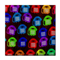 Grunge Telephone Background Pattern Tile Coasters