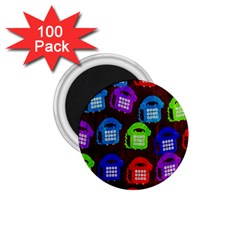 Grunge Telephone Background Pattern 1.75  Magnets (100 pack)