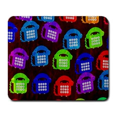 Grunge Telephone Background Pattern Large Mousepads