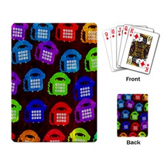 Grunge Telephone Background Pattern Playing Card