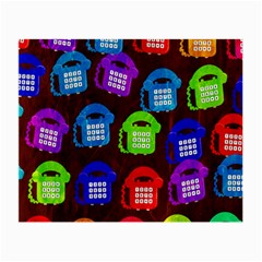 Grunge Telephone Background Pattern Small Glasses Cloth (2-Side)