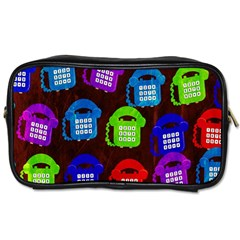 Grunge Telephone Background Pattern Toiletries Bags