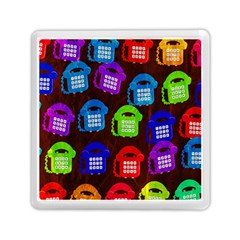 Grunge Telephone Background Pattern Memory Card Reader (square)