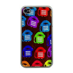 Grunge Telephone Background Pattern Apple Iphone 4 Case (clear)