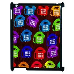 Grunge Telephone Background Pattern Apple Ipad 2 Case (black)