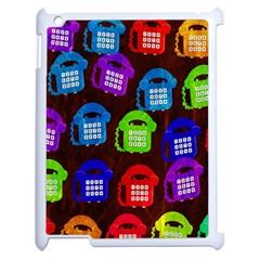 Grunge Telephone Background Pattern Apple Ipad 2 Case (white)
