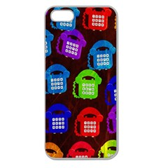 Grunge Telephone Background Pattern Apple Seamless Iphone 5 Case (clear)