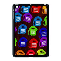Grunge Telephone Background Pattern Apple Ipad Mini Case (black)