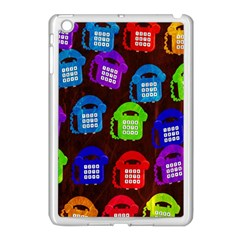 Grunge Telephone Background Pattern Apple Ipad Mini Case (white)