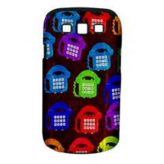 Grunge Telephone Background Pattern Samsung Galaxy S Iii Classic Hardshell Case (pc+silicone)