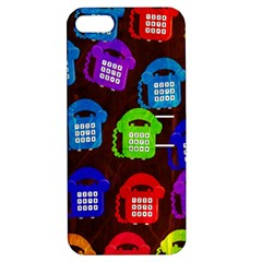 Grunge Telephone Background Pattern Apple Iphone 5 Hardshell Case With Stand