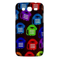 Grunge Telephone Background Pattern Samsung Galaxy Mega 5 8 I9152 Hardshell Case