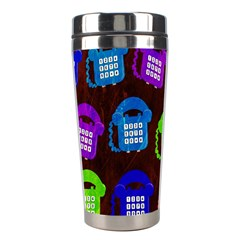 Grunge Telephone Background Pattern Stainless Steel Travel Tumblers