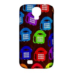 Grunge Telephone Background Pattern Samsung Galaxy S4 Classic Hardshell Case (pc+silicone)