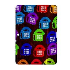 Grunge Telephone Background Pattern Samsung Galaxy Tab 2 (10.1 ) P5100 Hardshell Case