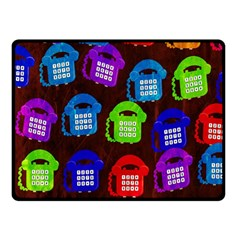 Grunge Telephone Background Pattern Double Sided Fleece Blanket (Small)