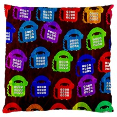 Grunge Telephone Background Pattern Large Flano Cushion Case (two Sides)