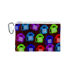 Grunge Telephone Background Pattern Canvas Cosmetic Bag (s)