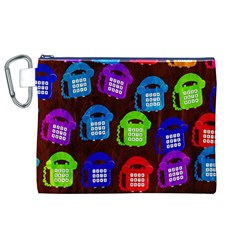 Grunge Telephone Background Pattern Canvas Cosmetic Bag (xl)