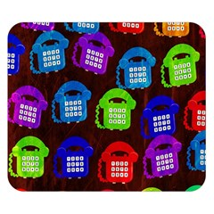 Grunge Telephone Background Pattern Double Sided Flano Blanket (small)