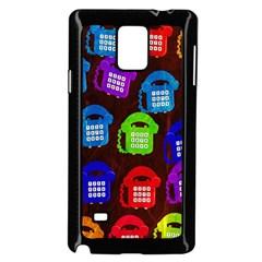 Grunge Telephone Background Pattern Samsung Galaxy Note 4 Case (black)