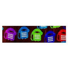 Grunge Telephone Background Pattern Satin Scarf (oblong)