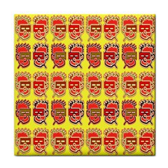 Funny Faces Tile Coasters