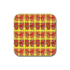 Funny Faces Rubber Coaster (Square)