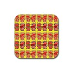 Funny Faces Rubber Coaster (Square)  Front