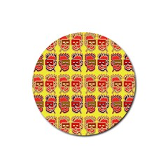 Funny Faces Rubber Coaster (Round)