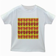 Funny Faces Kids White T Shirts